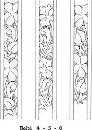 Risultati immagini per drawings patterns for carving in leather