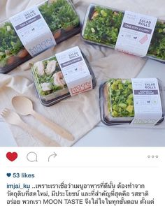 Nice salad packaging from MOON TASTE
