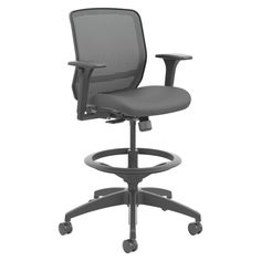 from el corte ingls hon quotient series mesh midback task stool black