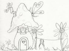 fairy house drawing - Google Search