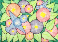 Flower Garden Geo by Suzanne Berton A reason I love drawing