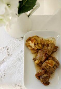 receta: rollitos de cerdo rellenos de crema de castañas