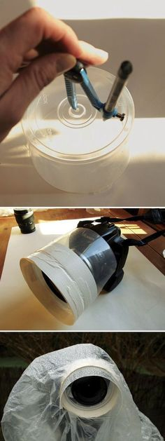 #26 Blank CD Case Is The Perfect Rain Guard For Your Lens