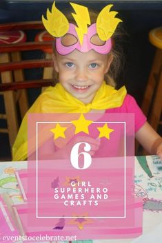 6 fun ideas for a girl superhero themed party. Creative games and crafts my girls loved! Superhero Party Games, Superhero Pictures, Fun Ideas, Craft Ideas, Girl Birthday, Birthday Parties, Party Themes, Party Ideas, Oriental Trading