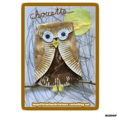 A adapter avec un filtre à café et du café Owl Crafts, Paper Plate Crafts, Diy And Crafts, Autumn Activities, Craft Activities For Kids, Projects For Kids, Diy With Kids, Art For Kids, Bricolage Halloween