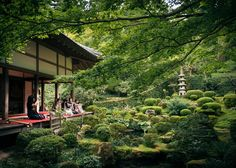 Tranquil grounds of Sanzenin Temple - Zen garden