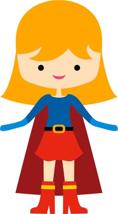 Superhero Supergirl And Flash Cute Clipart