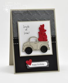 Splotch Design - Jacquii McLeay - Stampin Up - Loads of love card