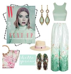 """""""hello spring"""" by fabulous-monsters ❤ liked on Polyvore featuring Dana Buchman, Topshop, Steve Madden, Maison Michel, Konstantino, Spring and mint"""