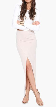 Yonce Maxi Skirt in Beige