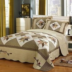 Brandream Queen Size Luxury Patchwork Quilted Bedspread Cotton Quilts Set *** You can find out more details at the link of the image. #BeddingComforters