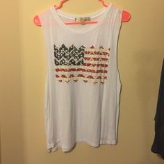 American flag tank Only worn once Penelope Tops Tank Tops