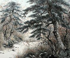 周王山 後谷 탐날데로 탐이 나서 몇번인지 찿아 가서 그리고 다시 그리곤 해서 겨우 직성이 풀렸는지 이 한점을 그리고는 더는 않가본 곳 지금 찿아 가면 다시 찿을 수나 있을런지... Chinese Brush, Painting Inspiration, Art Drawings, Oriental, Scenery, Japanese, Pine Tree, Trees, Outdoor