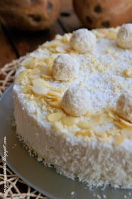 moje pasje: Sernik Rafaello na zimno Vanilla Cake, Cheesecake, Pie, Food, Torte, Cake, Cheesecakes, Fruit Cakes, Essen