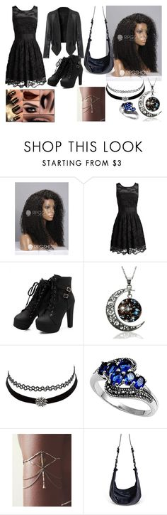 """""""Black and Silver"""" by slytherine-queen ❤ liked on Polyvore featuring Charlotte Russe and Téo+NG"""