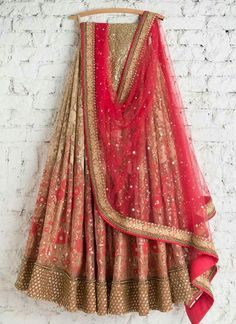 SwatiManish Lehengas SMF LEH 218 17 Maroon lehenga and badla dupatta with floral threadwork sequin blouse Indian Wedding Outfits, Indian Outfits, Indian Clothes, Eid Outfits, Desi Clothes, Pakistani Outfits, Indian Attire, Indian Ethnic Wear, Hippy Chic