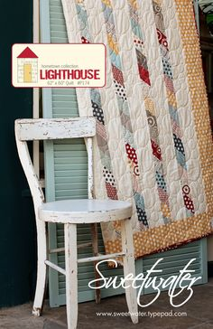Sweetwater - Lighthouse Quilt Pattern - Free shipping with fabric purchase