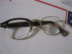 Vintage Glasses Gold Filled AS IS Broken missing one side