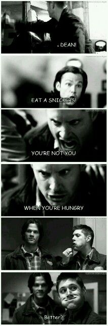 You're not you when you are hungry.