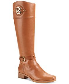 MK Michael Kors Boots, Stockard Tall Boots - Luggage - Shoes - Macy's. Just bought these. Used a coupon code. Still pricy but worth every penny!