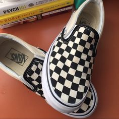 Classic Checkerboard Slip-On Vans Gently used slip on checkerboard vans! Vans Shoes Sneakers