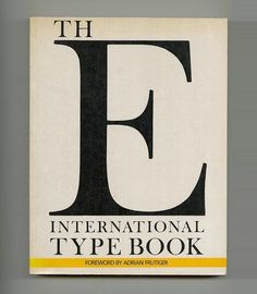 1990 Adrian Frutiger International Type Book 384 Pages 66 Typefaces Oversized BK | eBay
