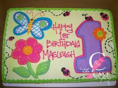 Super cute Garden Cakes, Bakery Cakes, Specialty Cakes, Birthdays, Stitch, Baking, Desserts, Party Stuff, Decorating