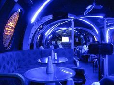 All bright lights and futurism, the NASA Pub in Bangalore is like bar-hopping in outer space.