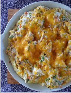 Grandma's Heirloom Country Chicken Casserole is both hearty and delicious. Packed with gooey, cheesy potatoes and tender chicken, this casserole is perfect for family or group dinners, and is loved by both children and adults alike. Add french onions to the mix for an extra kick and no one will be able to resist this chicken casserole. And don't worry, left overs just mean more casserole for you!