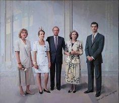 Ultimo cuadro de la familia real española de Antónimo Lopez