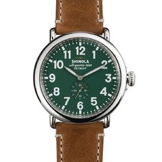Detroit built watch from Shinola. This is the Runwell Green 47mm. Yummy!