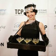 cigarette girl provided by J&D Entertainment in Houston, TX, Houston Wedding Entertain Great Gatsby Party, Great Gatsby Motto, 1920 Theme Party, Prohibition Party, Speakeasy Party, Speakeasy Decor, Renaissance Wedding, 1920s Wedding, Harlem Renaissance