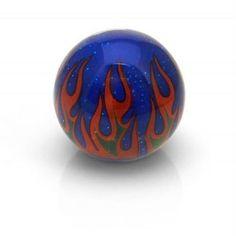 American Shifter Blue Flame Custom Shift Knob Translucent w- Metal Flake
