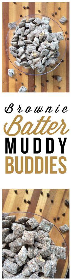 Brownie Batter Muddy Buddies Recipe                                                                                                                                                     More