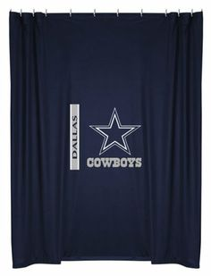 Dallas Cowboys COMBO Shower Curtain & Valance/Drape Set (Drapes Size 82 X 84) - Decorate Your Shower and Bathroom Window & SAVE ON BUNDLING!