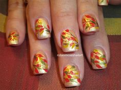 Picture Of Autumn Inspired Nails 7