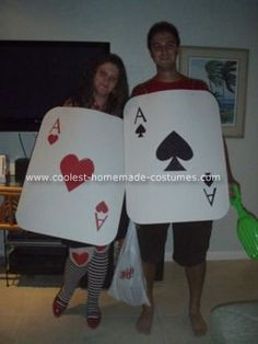 Homemade Couples Halloween Costumes | Coolest Pocket Aces Couple Costume 2