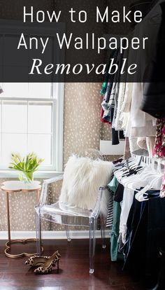 This tutorial shows you how to make wallpaper removable, with no glue, holes, or wall damage at all.
