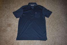 Travis Mathew Mauna Lani Marlin Golf Polo Shirt Navy Blue Red Size Medium M #TravisMathew #PoloShirt