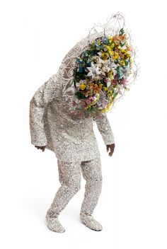 One of Nick Cave's Soundsuits. So weird and cool. His work was paired alongside Joyce J. Scott at an exhibit at Tulane.
