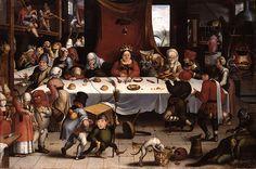 Jan Mandijn - Burlesque Feast [c.1550]