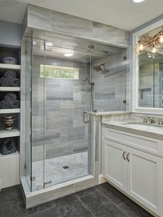 Fresh bathroom shower remodel ideas (22)