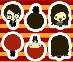Harry Potter Buddies fabric by yaney on Spoonflower - custom fabric