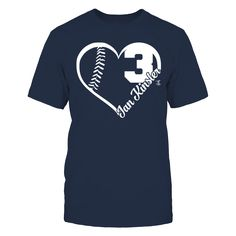 Ian Kinsler - Heart Team T-Shirt, Ian Kinsler Official Apparel - this licensed gear is the perfect clothing for fans. Makes a fun gift!  The Ian Kinsler Collection, OFFICIAL MERCHANDISE  Available Products:          Gildan Unisex T-Shirt - $24.95 Gildan Women's T-Shirt - $26.95 Gildan Unisex Pullover Hoodie - $44.95 Next Level Women's Premium Racerback Tank - $29.95 District Women's Premium T-Shirt - $29.95 District Men's Premium T-Shirt - $27.95 Gildan Long-Sleeve T-Shirt - $33.95 Gildan…