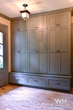 Country Pied-a-Terre - Kitchen Pantry Cabinets Mudroom Cabinets, Mudroom Laundry Room, Laundry Room Design, Cabinet Doors, Built In Lockers, Hallway Storage, Ceiling Storage, Closet Bedroom, Home Remodeling