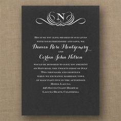 Preferential Design - Classic Invitation - Choose Your Color - Wedding Invitations - Wedding Invites - Wedding Invitation Ideas - View a Proof Online - #weddings #wedding #invitations