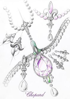Chopard jewelry sketch