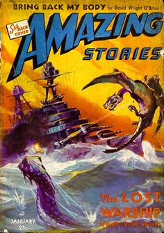 Amazing Stories VOL. 17, N° 1   Cover art by J. Allen St John