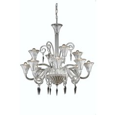 "Elegant Lighting 8812D37CL/EC Symphony Collection Dining Room Hanging Fixture D37"" x H37"" x Clear Finish (Elegant Cut Crystal Clear)"