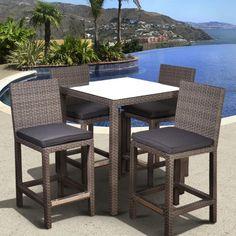 Hampton Bay Tacana 5Piece Patio High Bar Dining Set S0406014